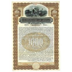 Toledo, St. Louis and Western Railroad Co., 1907 Specimen Bond