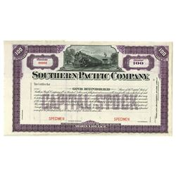 Southern Pacific Co., ca.1900-1910 Specimen Stock Certificate