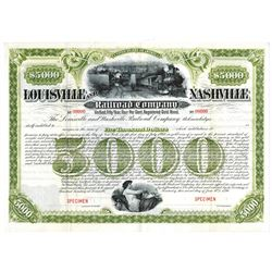 Louisville and Nashville Railroad Co., 1890 Specimen Bond