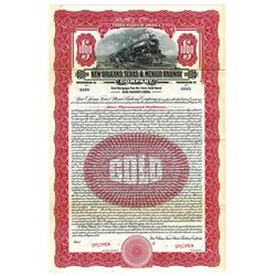 New Orleans, Texas & Mexico Railway Co., 1926 Specimen Bond