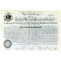 Chicago, St. Louis and New Orleans Railroad Co., 1877 Issued Bond