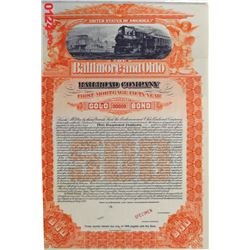 Baltimore and Ohio Railroad Co., 1898 Specimen Bond