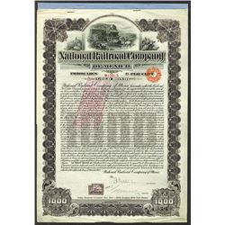 National Railroad Company of Mexico. 1902 Issued Bond.
