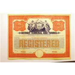 Detroit Terminal & Tunnel Co., 1911 Specimen Stock