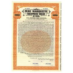 Pere Marquette Equipment Trust , 1936 Specimen Bond