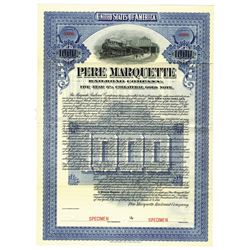 Pere Marquette Railroad Co., 1911 Specimen Bond
