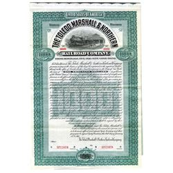 Toledo, Marshall & Northern Railroad Co., 1905 Specimen Bond
