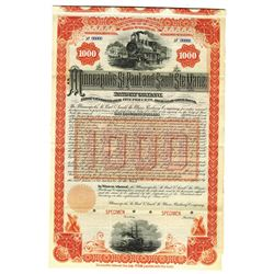 Minneapolis, St. Paul and Sault Ste. Marie Railway Co., 1888 Specimen Bond