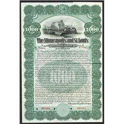 Minneapolis & St. Louis Railroad Co. 1911 Specimen Bond..