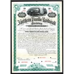 Northern Pacific Railway Co., Dividend Scrip, 1883 Specimen Bond.