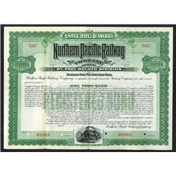 Northern Pacific Railway Co: St. Paul Division, ca.1900-1920 Specimen Bond