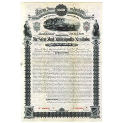 Saint Paul, Minneapolis and Manitoba, 1880 Specimen Bond