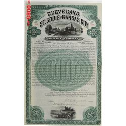 Cleveland, St. Louis and Kansas City Railway Co., 1888 Issued Bond