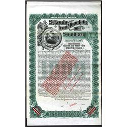 St.Louis, Iron Mountain and Southern Railway  Co., 1903 Specimen Bond
