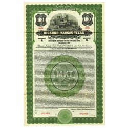 Missouri, Kansas & Texas Railroad Co., 1922 Specimen Bond