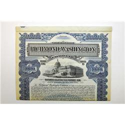 Richmond-Washington Co. 1906 Specimen Bond