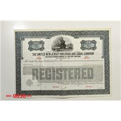 United New Jersey Railroad and Canal Co., 1872 Specimen Stock