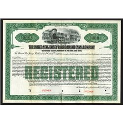 United New Jersey Railroad and Canal Co., ca.1920-1930 Specimen Bond