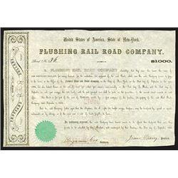 Flushing Rail Road Co., 1855 7% Bond.