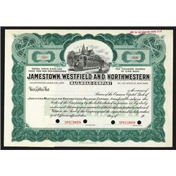 Jamestown, Westfield and Northwestern Railroad Co. ca.1900-1920 Stock