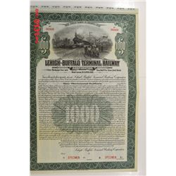 Lehigh-Buffalo Terminal Railway Corp., 1916 Specimen Bond
