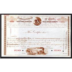New York and Harlem Rail Road Co., ca.1900 Specimen Stock