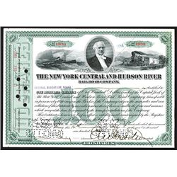 New York Central & Hudson River Railroad Co., 1907 Stock Certificate.