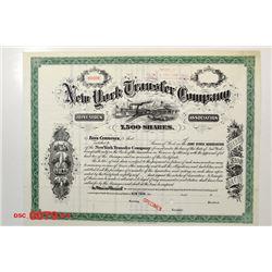 New York Transfer Co., Specimen Stock Certificate, ca.1900.