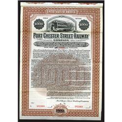 Port Chester Street Railway Co., 1901 Specimen Bond