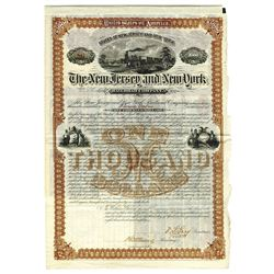 New Jersey and New York Railroad Co., 1880 Issued Bond