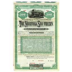 "Norfolk Southern Railroad Co., 1884 Specimen ""$300"" Bond."