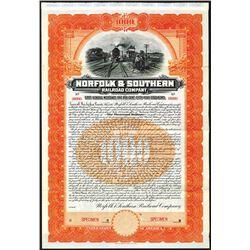 Norfolk & Southern Railroad Co., 1904 Specimen Bond.