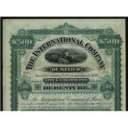 Cincinnati & Muskinqum Valley Railway Co. Issued Stock.