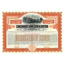 Cincinnati, Hamilton & Dayton Railway Co., ca.1900-1910 Specimen Bond