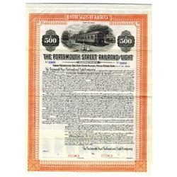 Portsmouth Street Railroad and Light Co., 1914 Specimen Bond