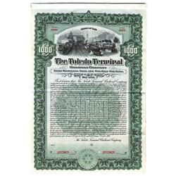 Toledo Terminal Railroad Co., 1907 Specimen Bond