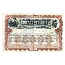 Cleveland, Cincinnati, Chicago and St. Louis Railway Co., 1890 Specimen Bond