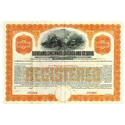 Cleveland, Cincinnati, Chicago and St. Louis Railway Co., 1911 Specimen Bond