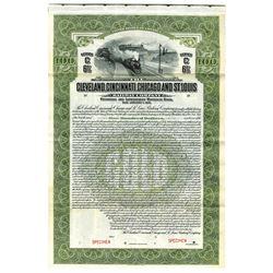 Cleveland, Cincinnati, Chicago and St. Louis Railway Co., 1921 Specimen Bond