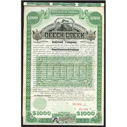 Beech Creek Railroad Co., 1886 Specimen Bond