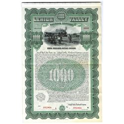 Lehigh Valley Railroad Co., 1903 Specimen Bond
