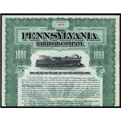 Pennsylvania Railroad Co. Specimen Bond.