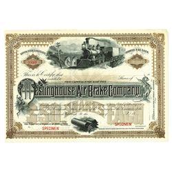 Westinghouse Air Brake Co., ca.1930-1940 Specimen Stock Certificate