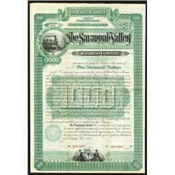 Savannah Valley Railroad Co., 1886 Specimen Bond