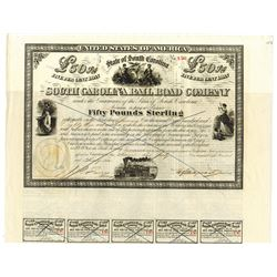South Carolina Rail Road Co., 1866 Issued Bond
