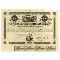 South Carolina Rail Road Co., 1868 Issued Bond