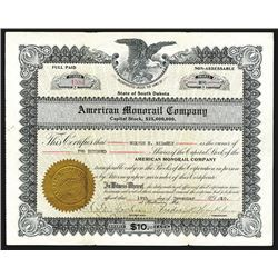 American Monorail Co., 1910 Issued Stock