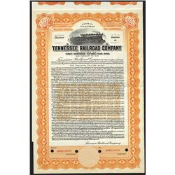 Tennessee Railroad Co. 1937 Specimen Bond