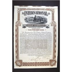International & Great Northern Railroad Co. 1892 Issued Bond