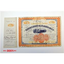 International Railroad Co., 1872 Issued Stock